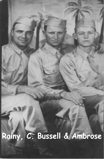 Ambrose Burns and friends in Hawaii 1944 before shipping out for combat.