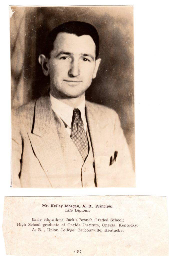 Kelley Morgan, Clay County, Kentucky. Teacher, author and genealogist.