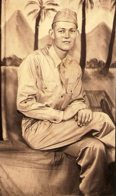 Ambrose Burns, Oneida, Kentucky. 32nd Infantry Regt. Philippines and Okinawa, Wounded in Action.
